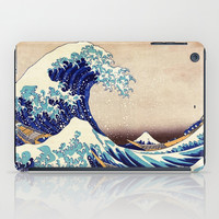 Katsushika Hokusai The Great Wave Off Kanagawa iPad Case by Art Gallery