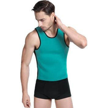 Men's Slimming Vest Body Shaper Belly Wrap Weight Loss Zipper Corset Hot Shapers Compression Slimming Shirt Slimming Undershirt