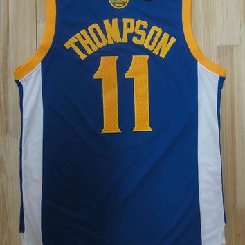 Klay Thompson Golden State Warriors 11 Super Rare Swingman NBA Jersey Klay Thompson Basketball Jersey All Stitched and Sewn Any Size S - XXL