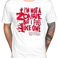 MDIGXT3 Official Falling In Reverse I'm Not A Zombie But I Feel Like One T-Shirt Short Sleeves New Fashion T Shirt Men Clothing