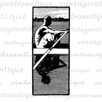 Digital Printable Crew Graphic Rowing Image Download Artwork Vintage Clip Art Jpg Png Eps  HQ 300dpi No.4251