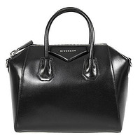 Givenchy Women's Antigona Sugar Goatskin Leather Satchel Bag, Dark Gray
