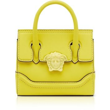 Versace Lemon Leather Palazzo Empire Mini Handbag