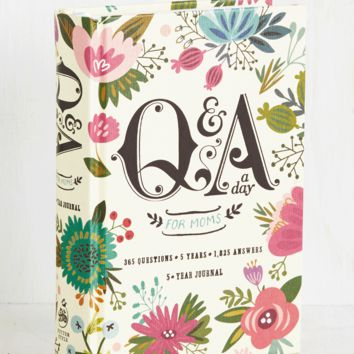 Q&A a Day for Moms 5 Year Journal | Mod Retro Vintage Desk Accessories | ModCloth.com