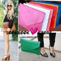 Lookbookstore Oversized Envelope Clutch Purse Handbag Multi Colours @lookbookstore #lookbookstore