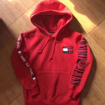 """ Tommy Hilfiger "" Trending Casual Women Men Hot Hoodie Cute Sweater G"