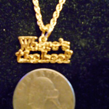 bling 14kt yellow gold plated where`s the beef word saying pendant charm 24 inch rope chain hip hop trendy fashion necklace jewelry special
