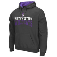 Northwestern Wildcats Arch & Logo Pullover Hoodie – Charcoal