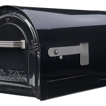 Gibraltar WM16KB01 Wyngate Locking Post Mount Mailbox, Black