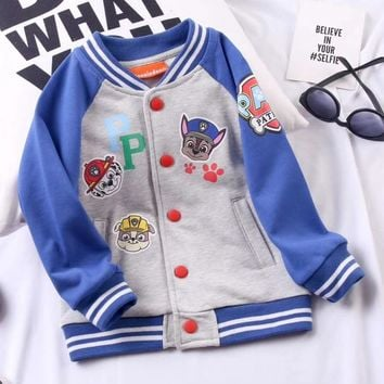 Paw Patrol Girls Boys Children Baby Toddler Kids Child Fashion Casual Cardigan Jacket Coat