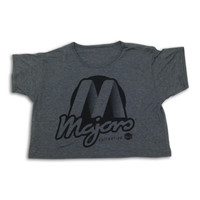 Women's Charcoal Logo Crop Top