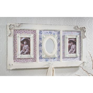 Vintage Photo Frame Mirror Coat Rack