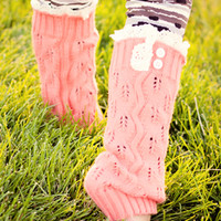 Girls Coral Leg Warmers