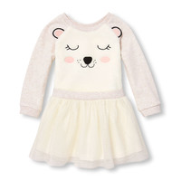 Toddler Girls Long Sleeve Animal Dress | The Children's Place