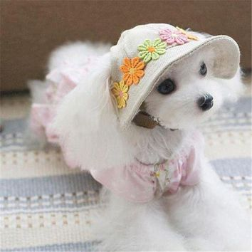 CUPUP9G Pet Products Dog Hat Winter Summer Beach Hats For Dogs Costume Accessories Cute Pet Hat PT0943