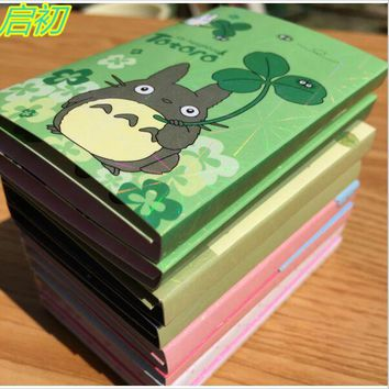 Kawaii Totoro Sumikko Gurashi whale Melody 6 Folding Memo Pad Sticky Notes Memo Notepad N times posted Bookmark Gift Stationery