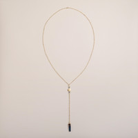 Gold and Genuine Quartz Lariat Necklace - World Market