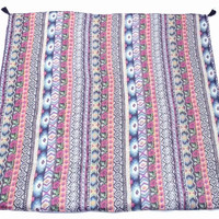 Colorful Aztec Print Festival Blanket / Tapestry / Throw Blanket