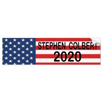 STEPHEN COLBERT FOR PRESIDENT 2020 BUMPER STICKER
