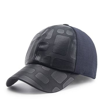PLZ Blended Wool Baseball Cap With Ear Tab Fashion Bomber Hat