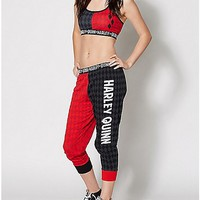 DC Comics Harley Quinn Sports Bra Jogger Set - Spencer's
