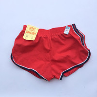NEW 70s 80s Vintage Short Jogging Shorts | Red White and Blue Athletic Shorts | Small Men Women