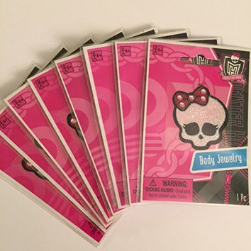Monster High Skullette Body Jewelry Set of 8 Party Favors