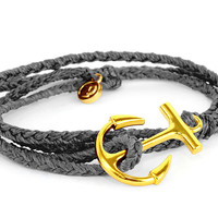 Gold Anchor Solid Grey