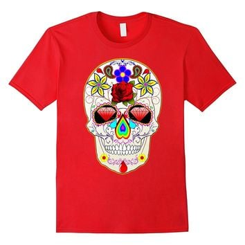 Day Of The Dead Mexican Sugar Skull Death Halloween T-Shirt