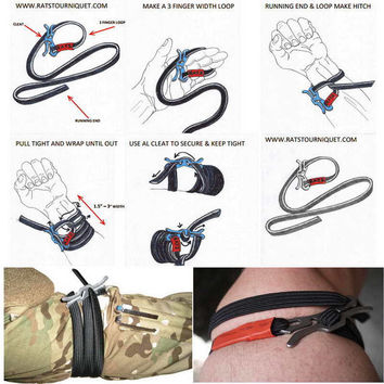 Outdoor Camping Survival EDC Elastic Rope Fast Tourniquet Tactical Gear Tool Free Shipping