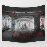 No Time to Let the Blood Dry Wall Tapestry by J.Lauren