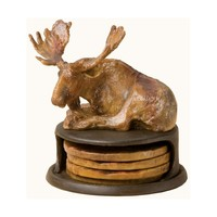Big Sky Moose Coaster Set