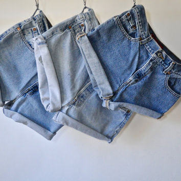 90s High Waisted Denim Jean Shorts 90s Cut off Shorts