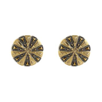 House of Harlow 1960 Jewelry Ornamental Medallion Earrings