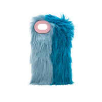 Charlotte Simone Phone Fluff Faux Fur IPhone 7/8 Case in Pastel Blue & True Blue | REVOLVE