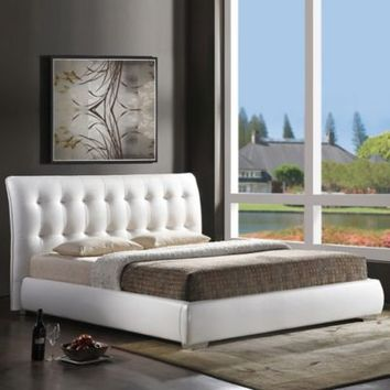 Jeslyn Designer Bed with Tufted Headboard