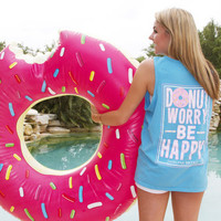 """Donut Worry Be Happy"" Tank - Jadelynn Brooke"