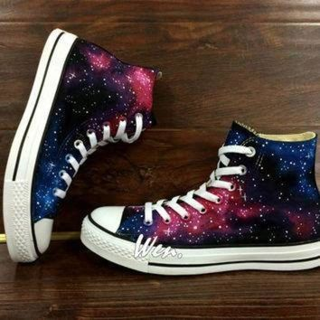 ICIKGQ8 wen original design galaxy shoes galaxy converse customize hand painted shoes painted