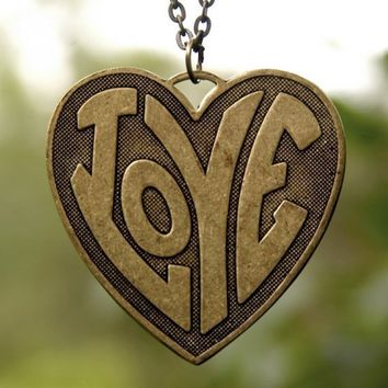 Hippie Heart Necklace by ragtrader on Etsy