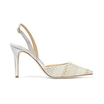 Jimmy Choo Tilly Woven Slingback Pumps 7