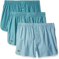 Lacoste Men's Father's Day 3-Pack Boxers Gift Set, Polo/Blue Grass/Stripe, Large