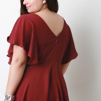 Butterfly Sleeves Peplum Top