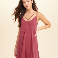 Girls Must-Have Strappy Swing Dress | Girls New Arrivals | HollisterCo.com