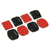 2x Flat Mounts & 2x Curved Mounts with 3M Adhesives for Go Pro HD Hero 2 3 3+