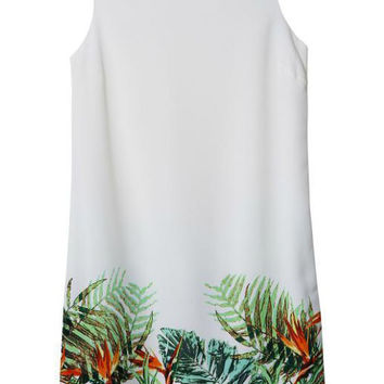 Rainforest Printed Sleeveless Mini Garden Dress