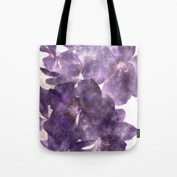 Purple Blossoming Tote Bag by ARTbyJWP