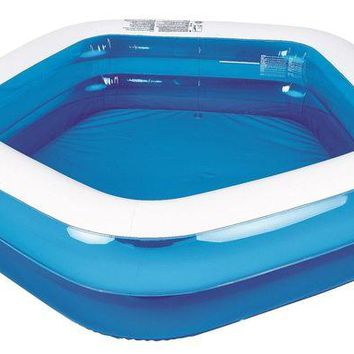 LMFMS9 79' Blue and White Pentagon Inspired Inflatable Swimming Pool