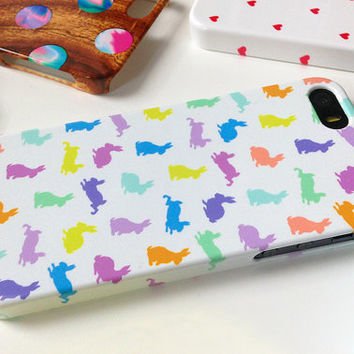 BUNNY iPhone 5 Case, Pastel Phone Case, Rabbit print case, bunny pattern case, girly gift, animal print case, animal pattern iphone 4 case