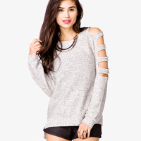 Cutout Sequined Pullover Sweater