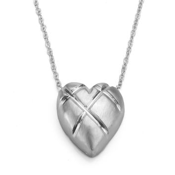 Sterling Silver Mended Heart Necklace